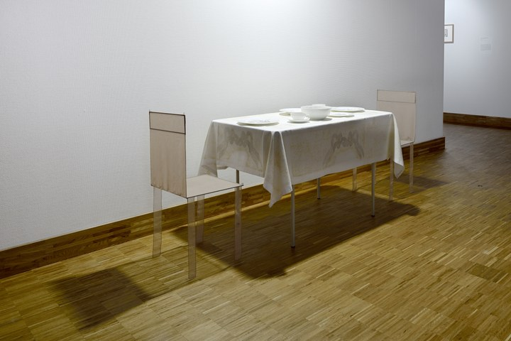 Kim Abeles, Dinner for Two in One Month of Smog, 2011
