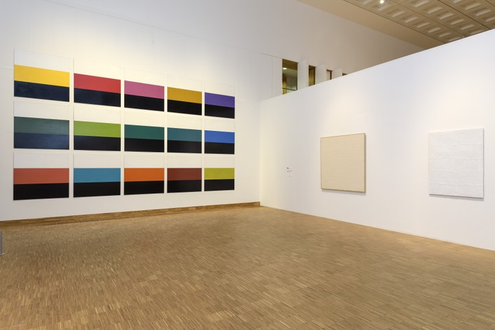 Zaaloverzicht De kleuren van De Stijl met Poul Gernes, Robert Ryman en Piero Manzoni
