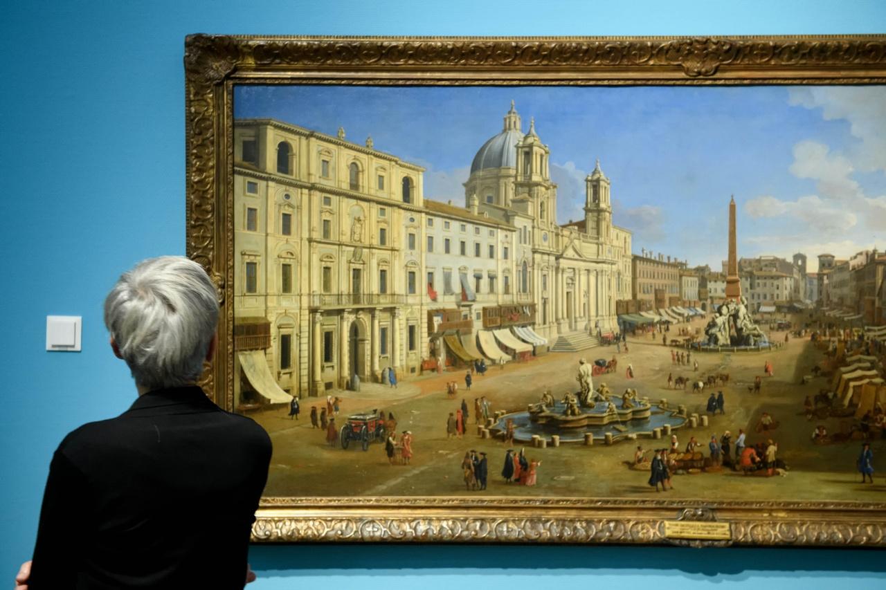 Caspar van Wittel, Piazza Navona, (detail)