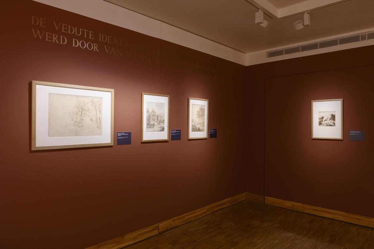 Tekeningen uit Rijksmuseum - links drie tekeningen Caspar van Wittel + rechts vroege Italianisant Bartolomeus Breenbergh