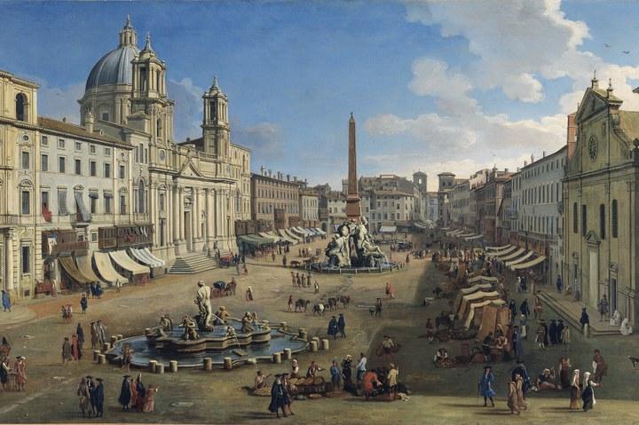 MAESTRO VAN WITTEL - Holländischer Meister der italienischen Stadtansicht