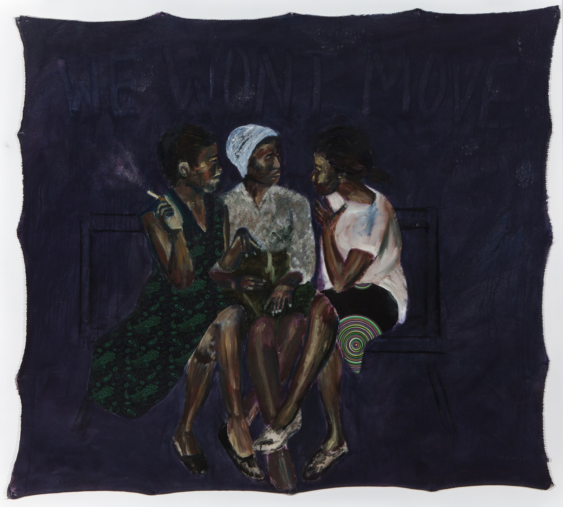 Neo Matloga, Bo mma sebotsana, 2017, oil on collage on canvas, 145x160 cm, courtesy Christopher Moller Gallery.jpg