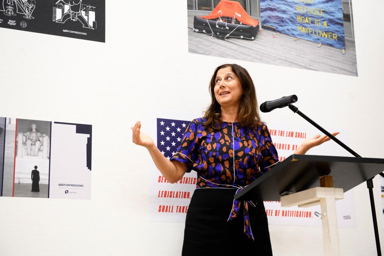 Opening This Is America, Wethouder Cultuur Gemeente Amersfoort, Fatma Koser Kaya. Photo Mike Bink.jpg