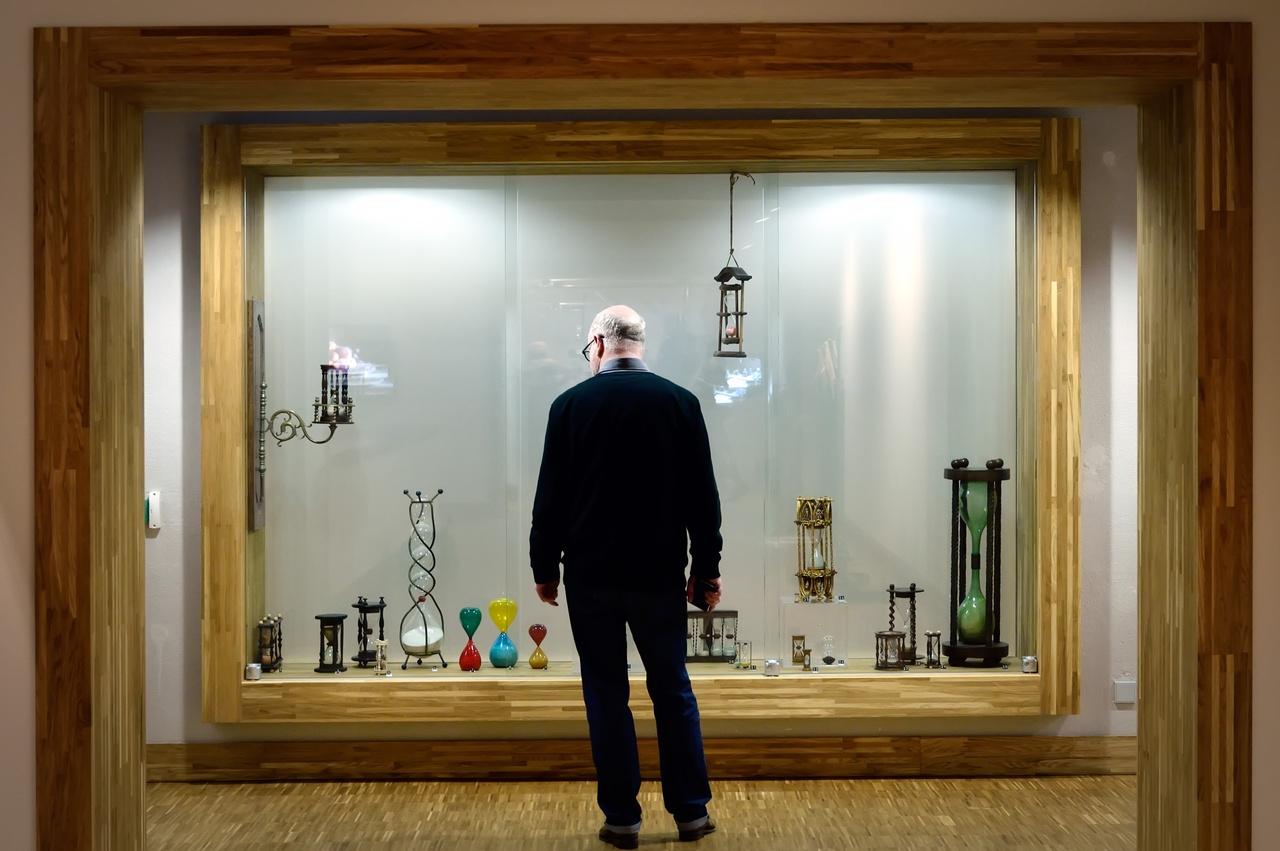 Selectie zandlopers uit zandlopermuseum Oosterhout
