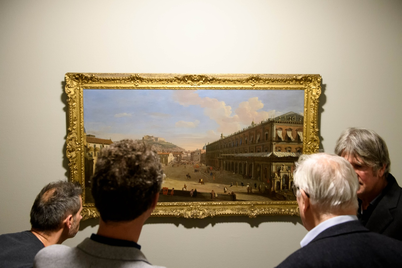 Caspar van Wittel, Gezicht op Napels met Largo di Palazzo