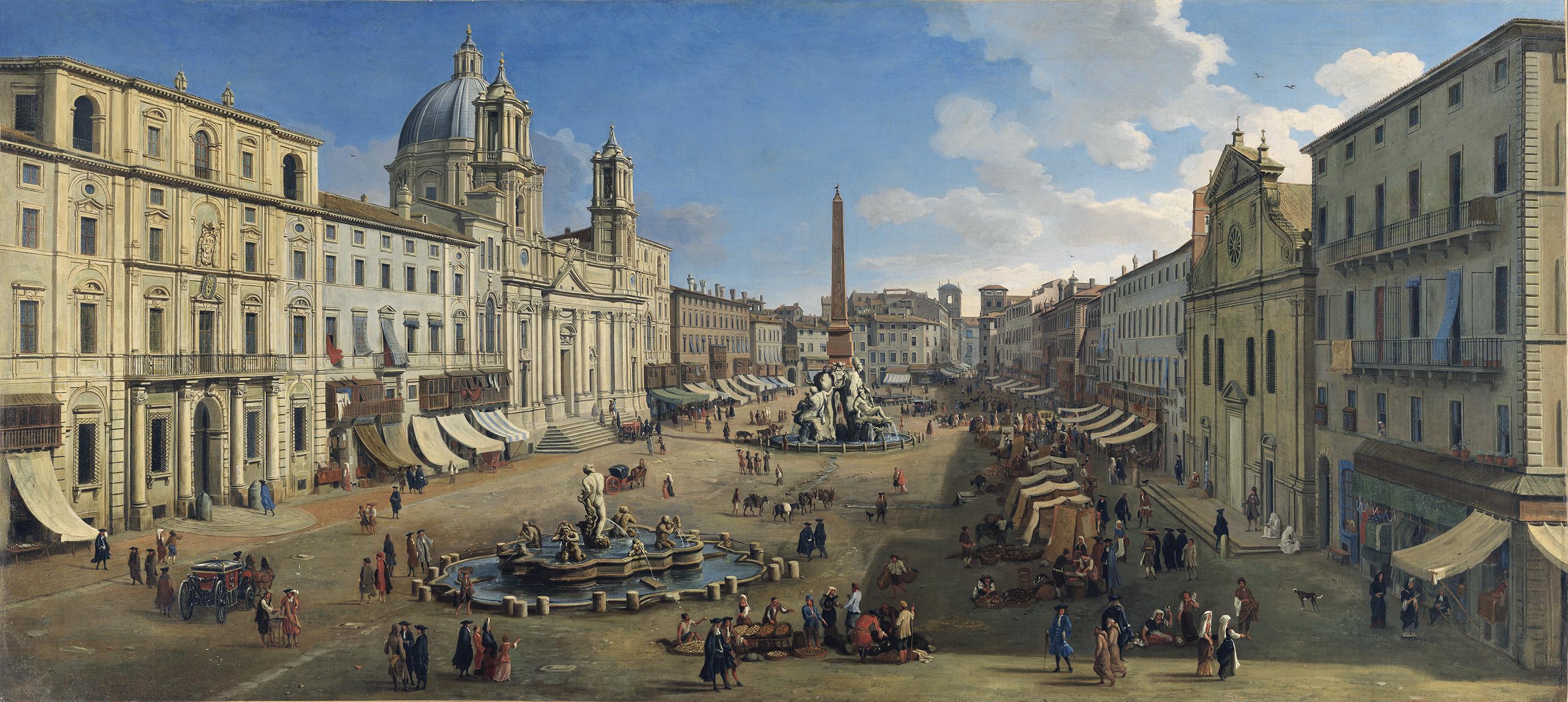 Caspar van Wittel, 'Piazza Navona, Rome
