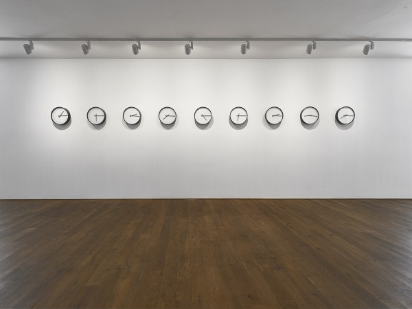 Katie Paterson, Timepieces (Solar system), 2014 , 45 x 45 x 9,5 cm, installation, THE EKARD COLLECTION, © Katie Paterson 2019. Image courtesy the artist and James Cohan, New York