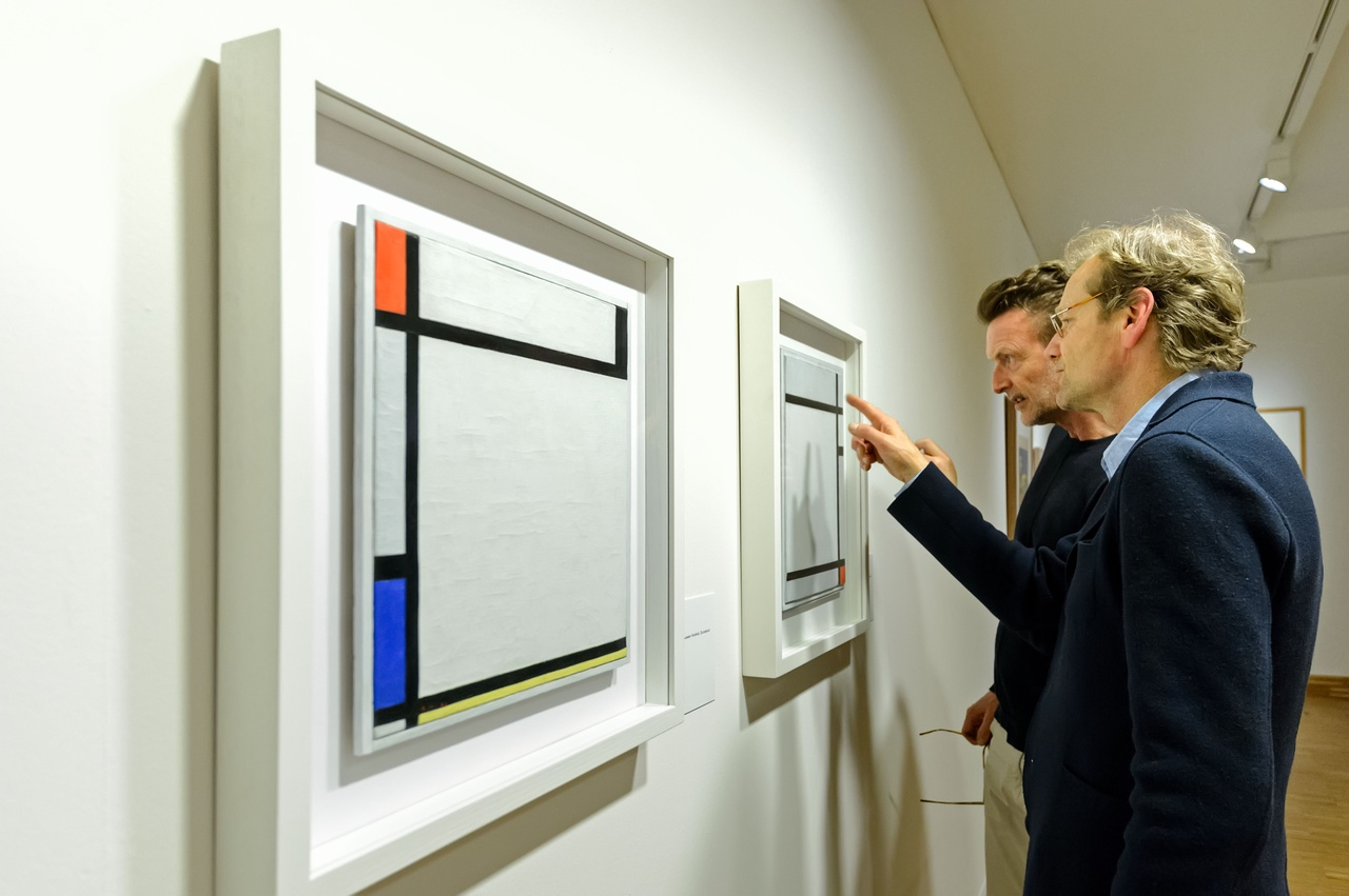 Zaaloverzicht De kleuren van De Stijl met werken van Piet Mondriaan