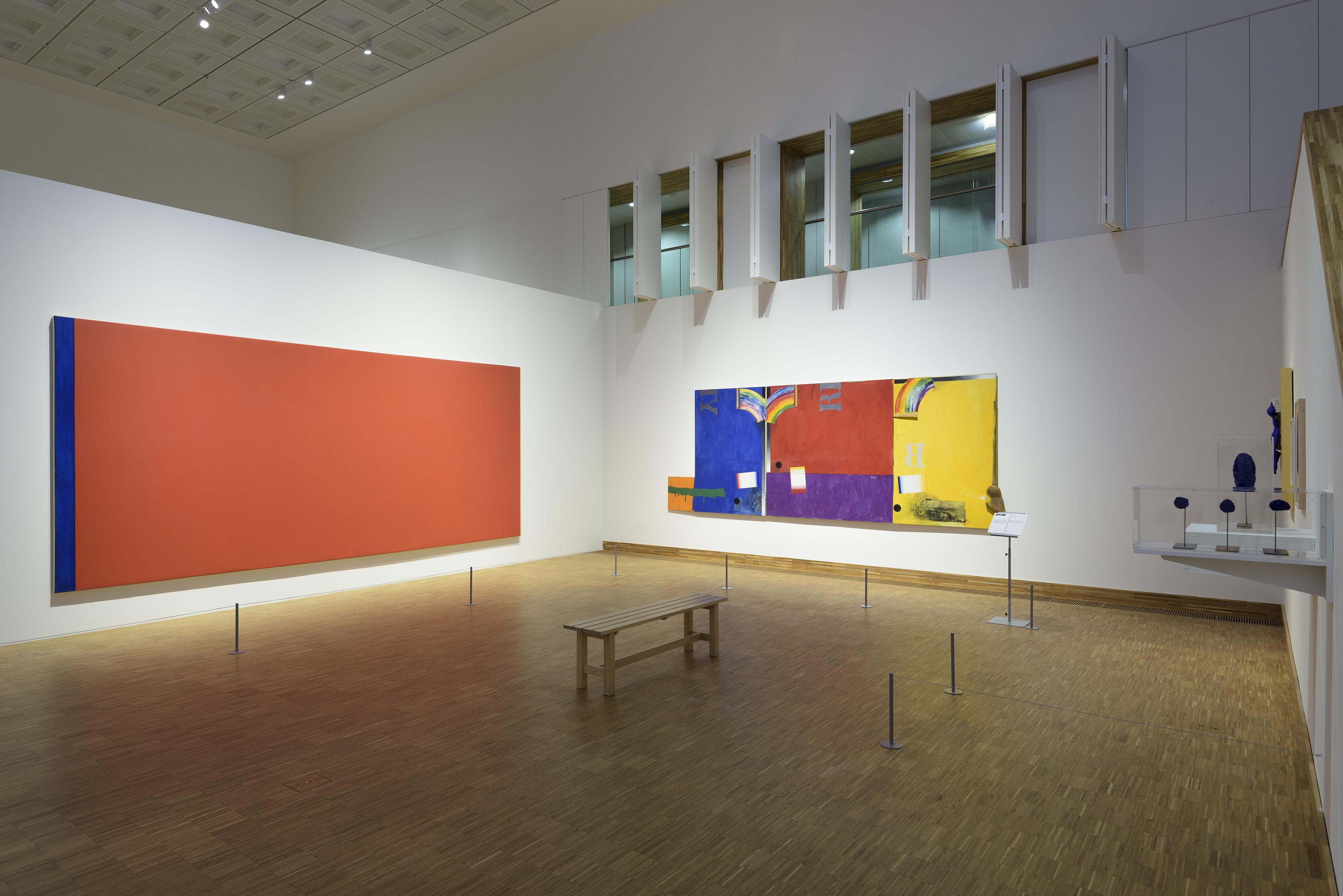 Zaaloverzicht De kleuren van De Stijl met Barnett Newman, Jasper Johns en Yves Klein
