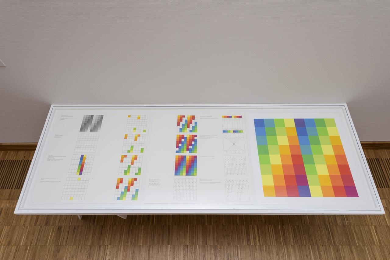 Richard Paul Lohse, Modular/Seriell, 1977