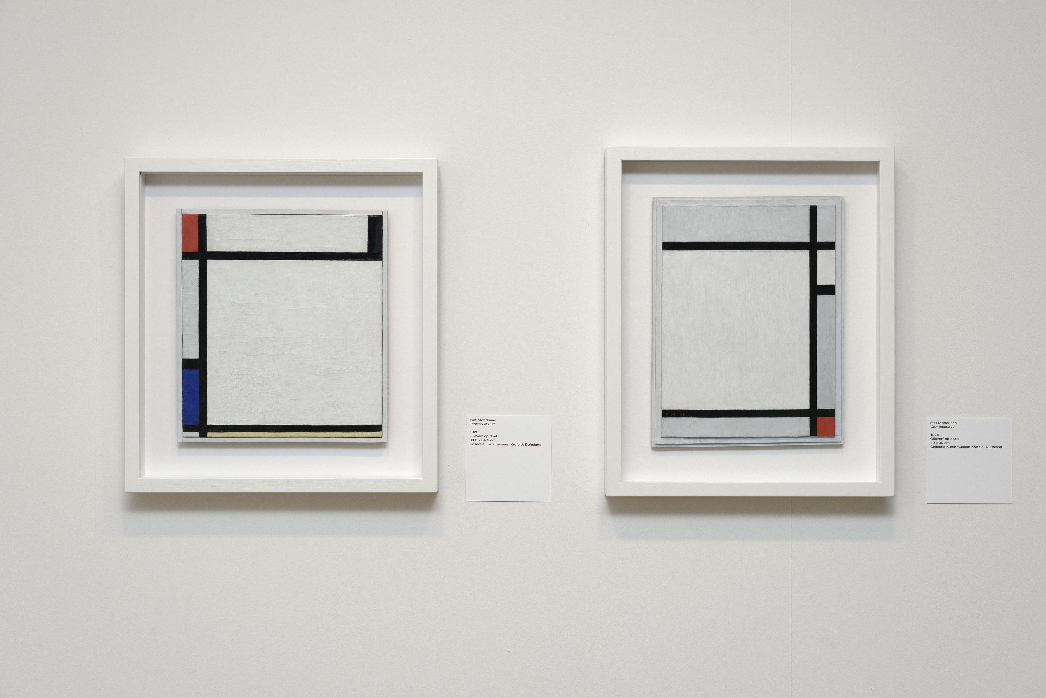 Zaaloverzicht De kleuren van De Stijl met werken Piet Mondriaan