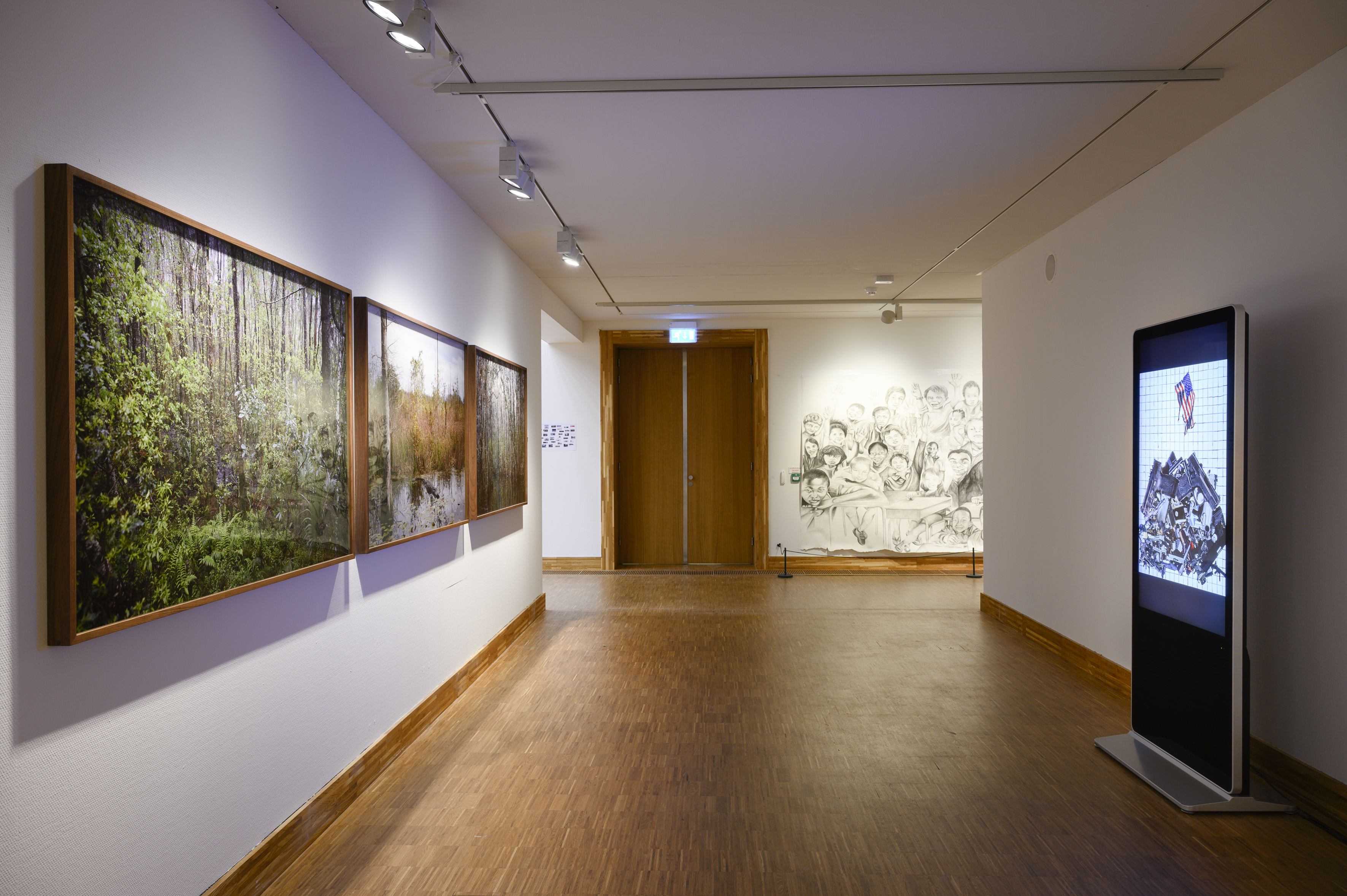 Catherine Opie, Rhetorical Landscapes, Untitles #2, #4, #9 (Swamps), 2019 & Untitled #1, #3, #4 (Political Collage), 2019. Photo Peter Cox for Kunsthal KAdE.jpg