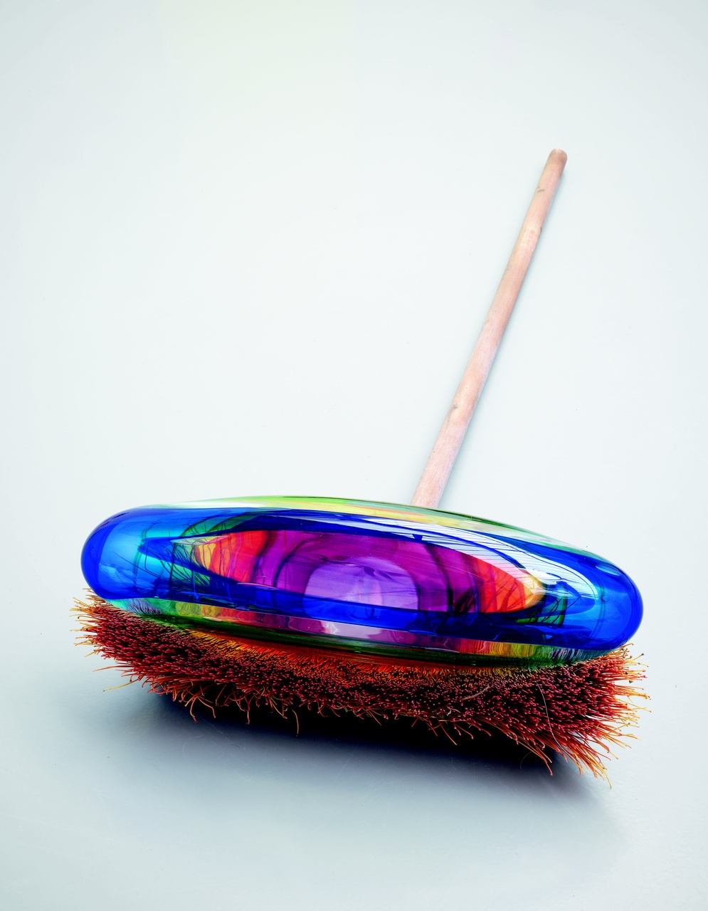 Broom Rainbow, 2014, glass & broom, 25 x 51 x 140 cm, Pačinek Studio, Lindava, Czech Republic.jpg