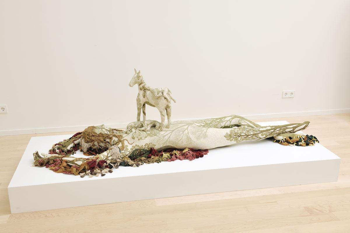Barbara Polderman, Vrouw met drie paarden, 2008
