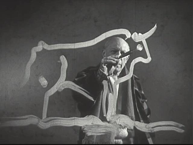 Paul Haesaerts, Still uit documentaire 'Visite à Picasso,' 1949.jpg