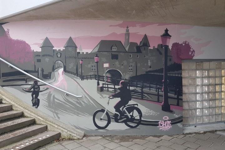 Graffitischildering Veduta