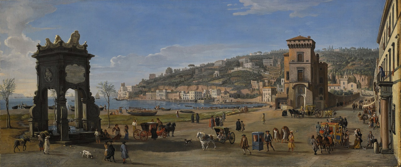 15_Caspar Van Wittel-Napels_Riviere di Chiaia-1710_20-olie op doek-75,7 x 174,8 cm-Courtesy Lampronti Gallery.jpg