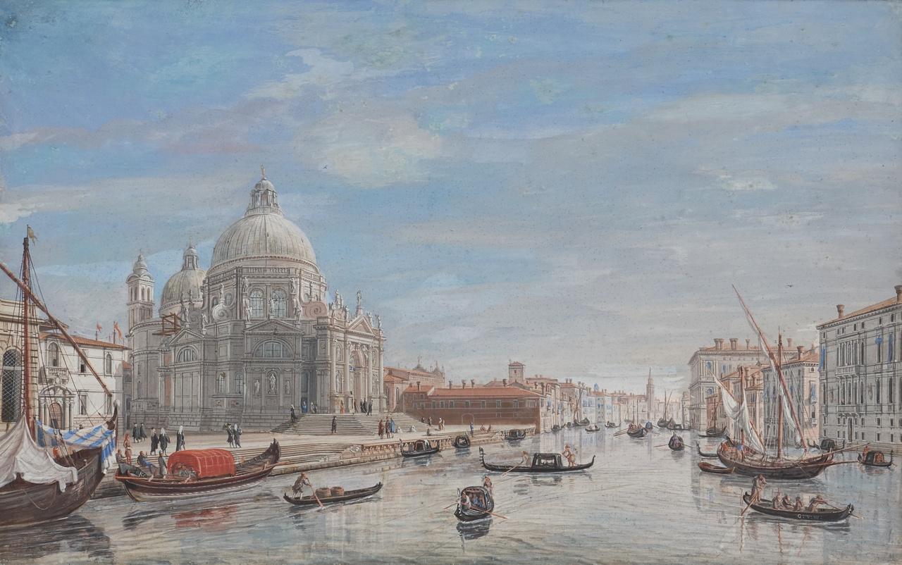 9_Caspar van Wittel, Santa Maria della Salute bij de ingang van Canal Grande, 1719-22, gouache, 31 x 49 cm, Holkham Hall, Norfolk.jpg