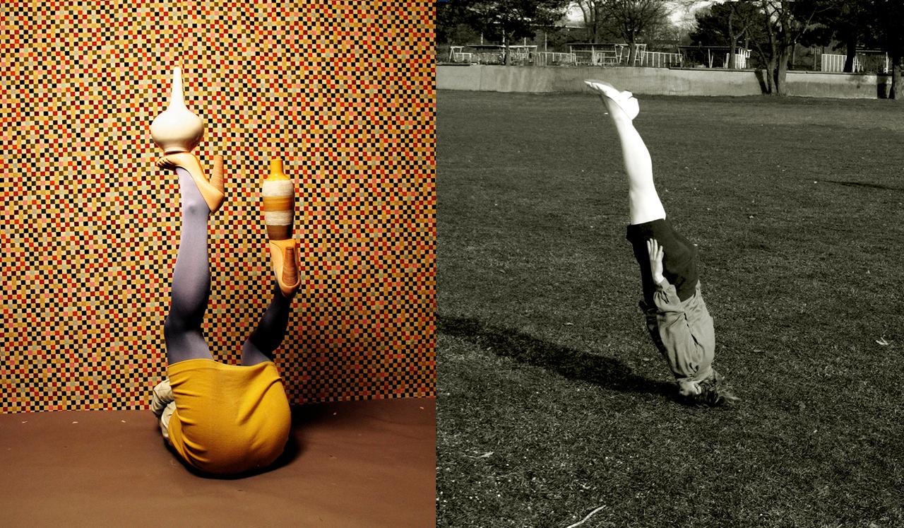 Links naar rechts, Isabelle Wenzel, Position 3, 2013, Schief, Rheinpark Köln, 2014, Courtesy the artist and Galerie Bart