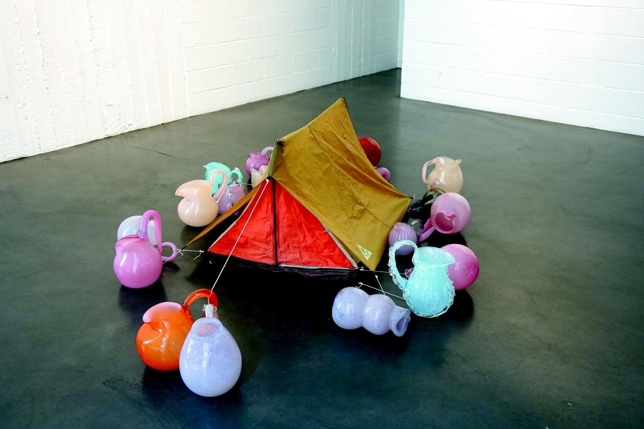 Tent, 1998–2015, canvas & glass, 70 x 150 x 125 cm, Bernard Heesen, glas- blazerij de Oude Horn, Acquoy, Netherlands, and Pačinek Studio, Lindava, Czech Republic.jpg
