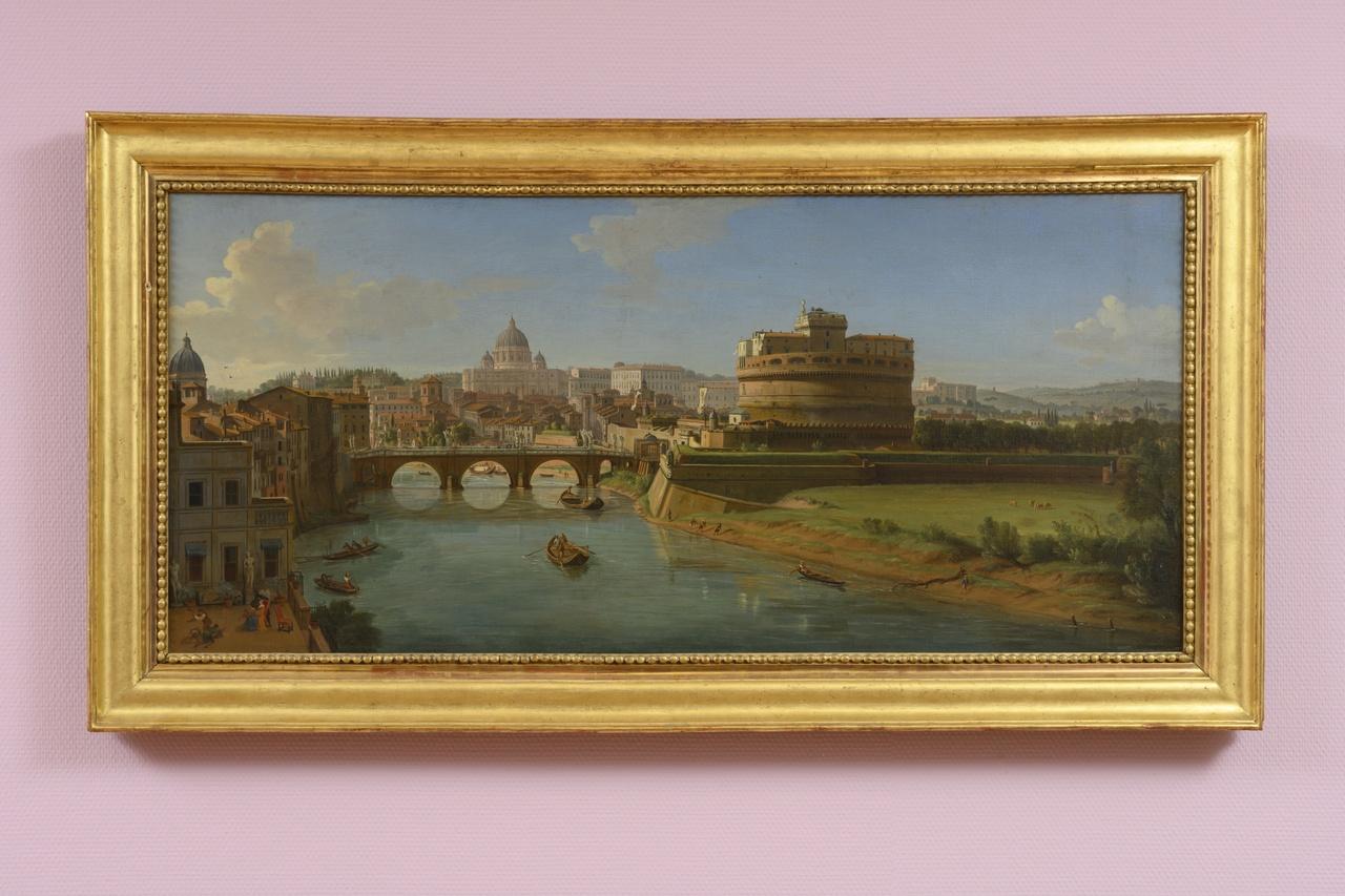 Caspar van Wittel, Gezicht op Rome met de Engelenburcht