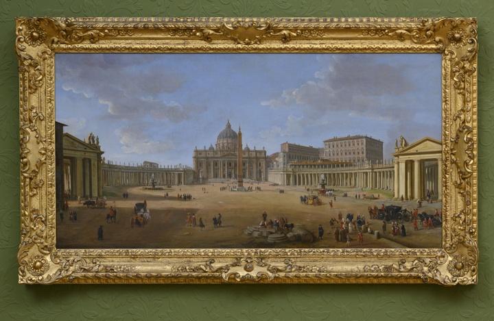 25. Caspar van Wittel, Piazza San Pietro, 1715, olieverf op doek, 56 x 109 cm, Holkham Hall, The Earl of Leicester and the Trustees of Holkham Estate. Foto Peter Cox.jpg