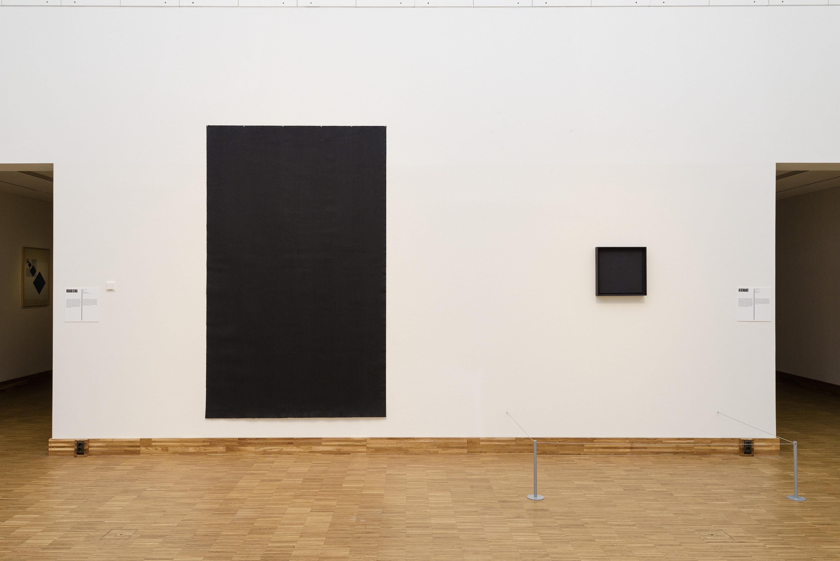 Zaaloverzicht De kleuren van De Stijl met Richard Serra en Ad Reinhardt
