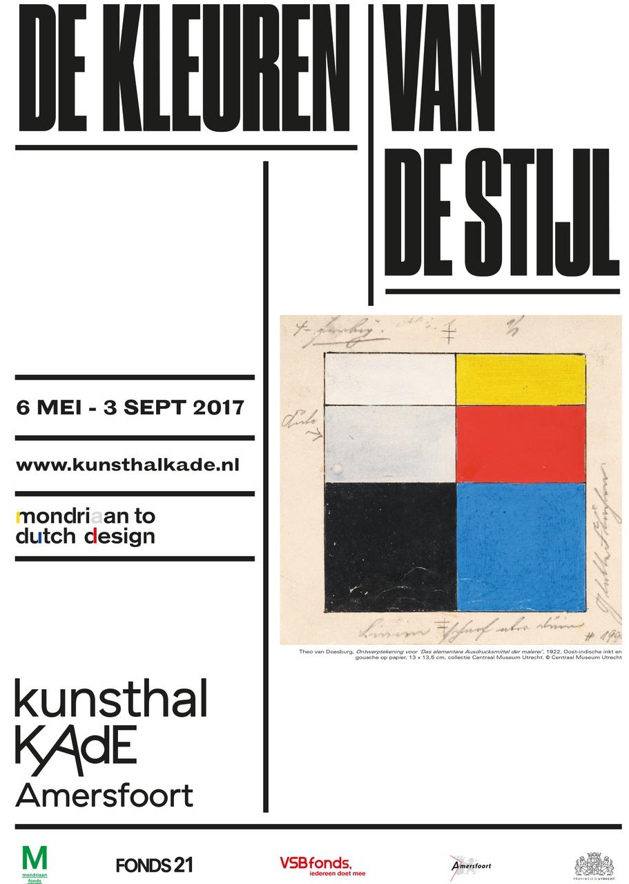 Poster De kleuren van De Stijl