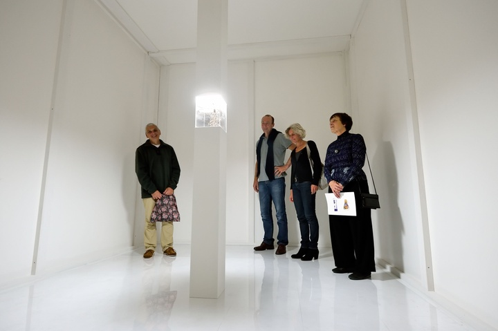 Junko Kido, Vostok, 2013, Installatie met wortel en licht