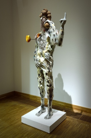 David Altmejd, Figure with Cantaloupe shoulders, 2013