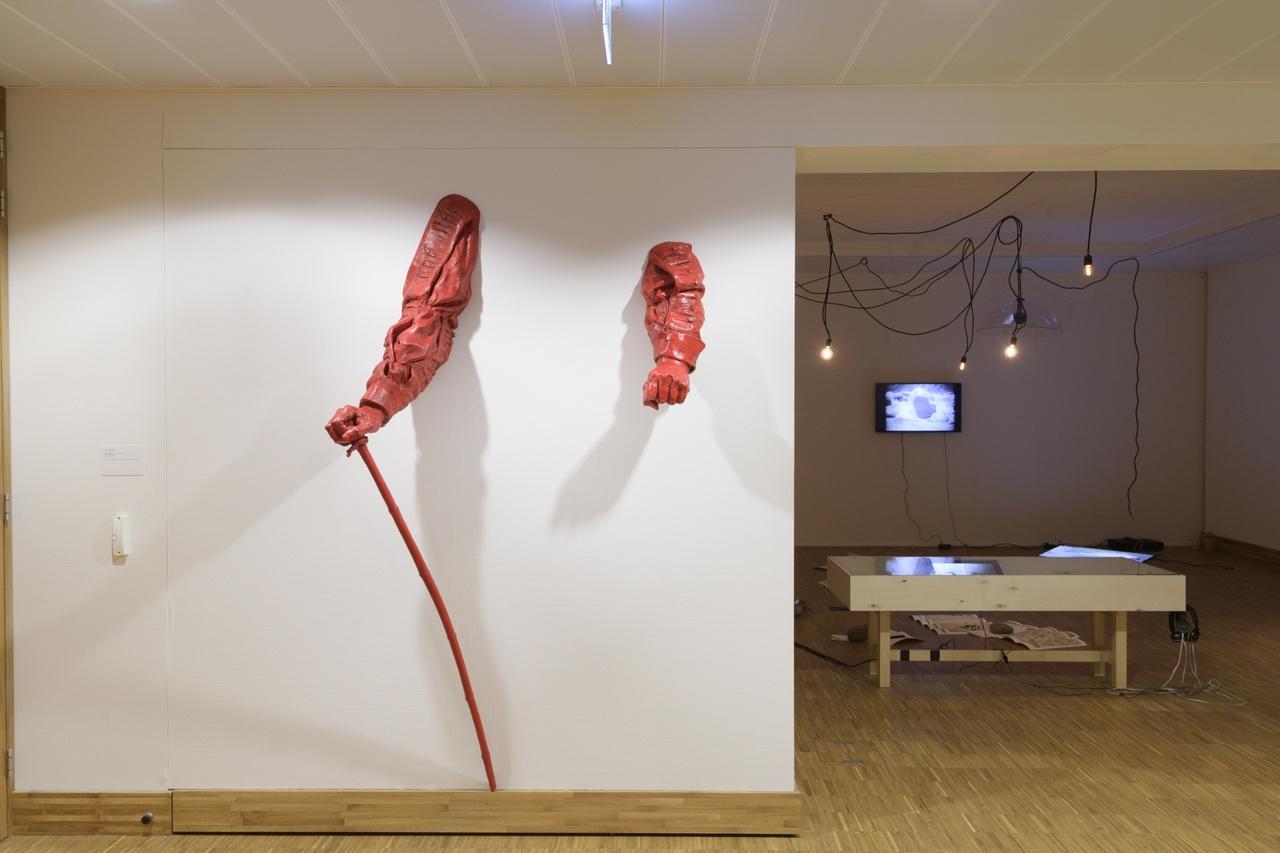 Zaaloverzicht Tell Freedom met werk van Haroon Gunn-Salie en Aline Xavier