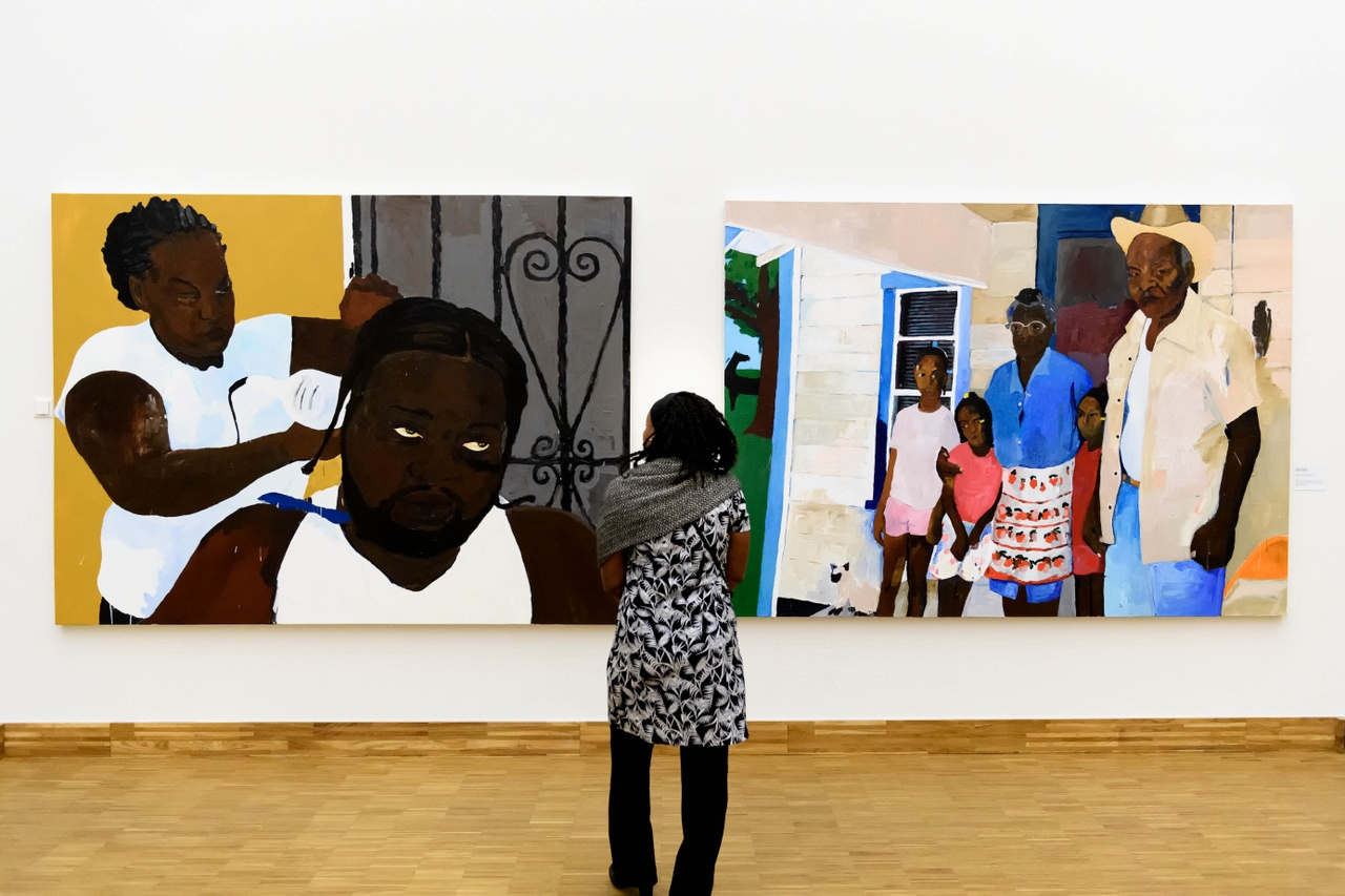 Zaaloverzicht Tell Me Your Story. Kunsthal KAdE 2020. Henry Taylor. Foto Mike Bink
