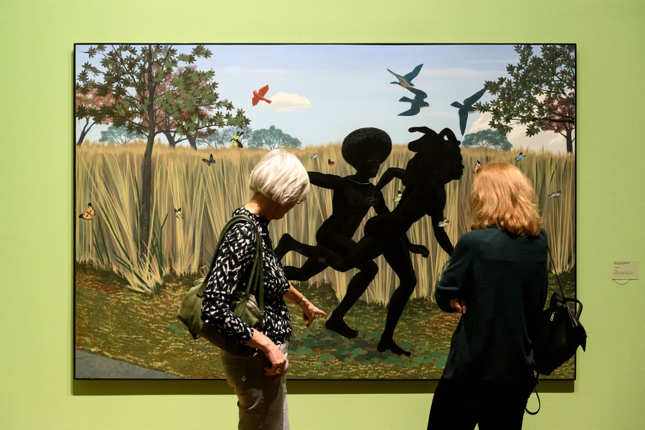 Zaaloverzicht Tell Me Your Story. Kunsthal KAdE 2020. Kerry James Marshall. Foto Mike Bink