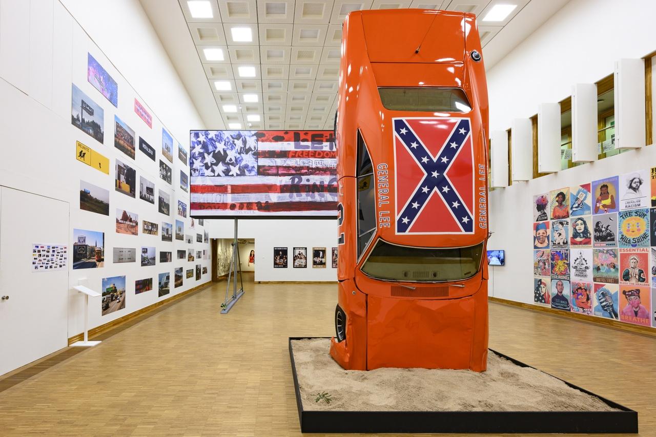 1. 'This Is America | Art USA Today', Kunsthal KAdE 2020. Hank Willis Thomas & For Freedoms